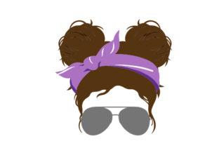 Space Buns and Sunglasses Beauty & Fashion Craft Cut File By Creative Fabrica Crafts