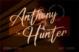 Print on Demand: Anthony Hunter Script & Handwritten Font By perspectype