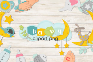 Print on Demand: Baby Collection Clipart PNG, EPS. Graphic Objects By NadineStore
