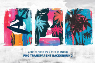 Beach Sunset PNG Colorful Background - 3
