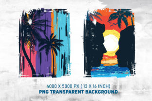 Beach Sunset PNG Colorful Background - 4