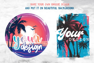 Print on Demand: Beach Sunset PNG Colorful Background Graphic Illustrations By nesdigiart 5