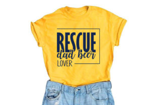 Dog Svg Design, Rescue Dad Beer Lover Graphic Print Templates By RK Studio