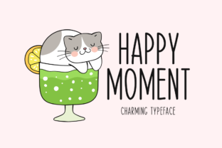 Print on Demand: Happy Moment Script & Handwritten Font By Seemly Fonts