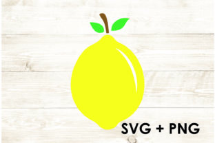 Print on Demand: Lemon Fruit SVG PNG Graphic Print Templates By Too Sweet Inc
