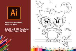 Print on Demand: Owl Kids Coloring Pages for Best for KDP Graphic Coloring Pages & Books Kids By DigitalMGoods