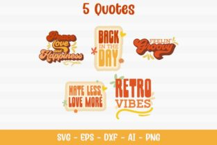 Peace Retro Quotes Graphic Crafts By Firefly Designs