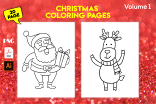 Print on Demand: Christmas Coloring Pages for Kids - Kdp Graphic Coloring Pages & Books Kids By Kristy Coloring