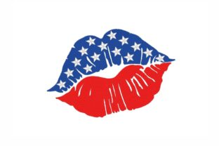American Flag Lips Independence Day Embroidery Design By NinoEmbroidery