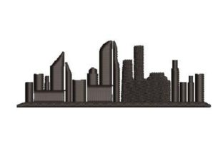 City Silhouette Cities & Villages Embroidery Design By Embroidery Designs