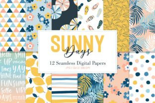Digital Seamless Paper Sunny Days Graphic Patterns By Sweet Shop Design