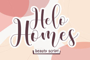 Print on Demand: Helo Homes Script & Handwritten Font By Maung Lines