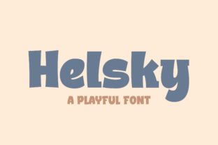 Print on Demand: Helsky Display Font By Blankids Studio