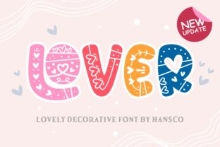 Print on Demand: Lover Decorative Font By HansCo 1