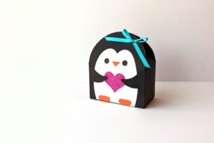 Penguin Gift Box SVG Graphic 3D Christmas By RisaRocksIt