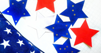 DIY 4th of July Paper Star Decals with Cricut