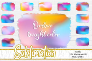Sublimation Ombre Color Graphic Backgrounds By Artnoy