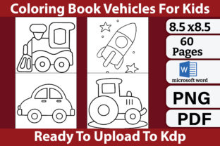 Coloring Book Vehicles for Kids Graphic Coloring Pages & Books Kids By kdpkawsarmia