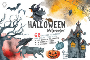 Halloween Watercolor Arts Collection - 1