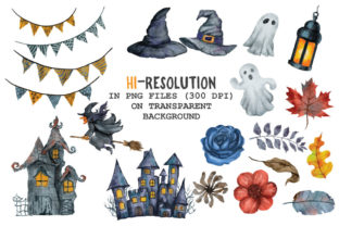 Halloween Watercolor Arts Collection - 2