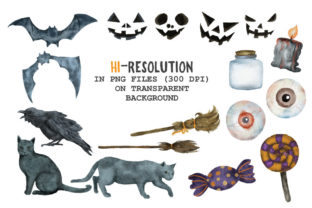 Halloween Watercolor Arts Collection - 3