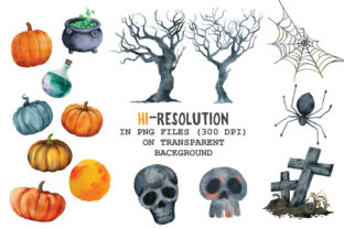 Halloween Watercolor Arts Collection - 4