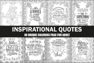 Inspirational Quotes Coloring Interior Graphic Coloring Pages & Books Adults By Creative Design Studio