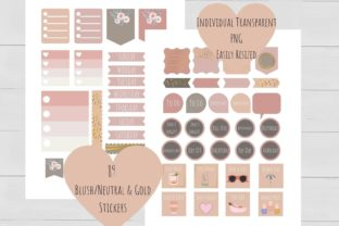 Print on Demand: Blushing Rose Planner Stickers Graphic Illustrations By Kristen Rheaume