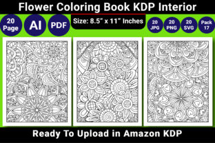 Print on Demand: Coloring Book KDP Interior Graphic Coloring Pages & Books Adults By KDP Coloring Book