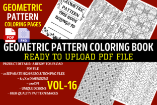 Geometric Pattern Coloring Book Interior Graphic Coloring Pages & Books Adults By unique99design