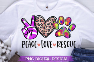 Peace Love Rescue PNG Sublimation Graphic Crafts By SeventhHeaven Studios