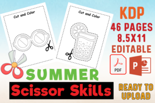 Summer Scissor Skills Cutting Practice Graphic Teaching Materials By MOBAAMAL