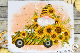 Print on Demand: Sunflower Truck Cute Gnomes Sublimation Graphic Illustrations By Suda Digital Art