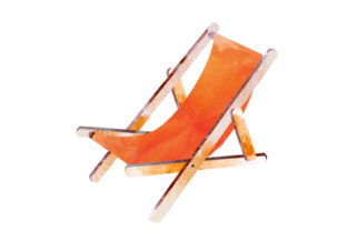 Watercolor Beach Chair Summer Craft Cut File By Creative Fabrica Crafts