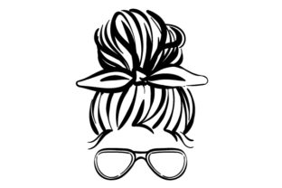 Messy Bun and Sunglasses Beauty & Fashion Craft Cut File By Creative Fabrica Crafts
