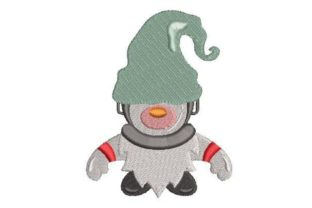 Astronaut Gnome Robots & Space Embroidery Design By Embroidery Designs