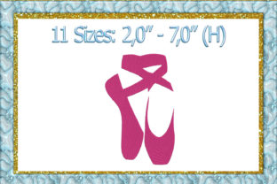 Print on Demand: Ballet Shoes Babies & Kids Embroidery Design By larisaetsy