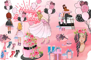 Print on Demand: Birthday Party Cliparts Graphic Print Templates By Chou Chou Art