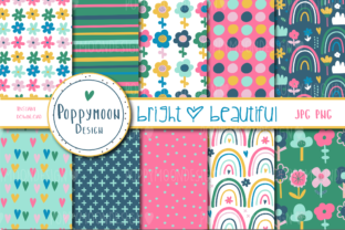 Print on Demand: Bright and Beautiful Paper Set Graphic Patterns By poppymoondesign