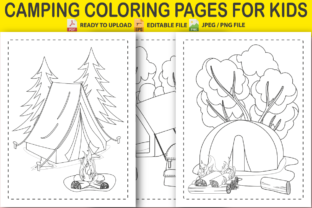 Camping Coloring Pages for Kids Graphic Coloring Pages & Books Kids By Pro Designer