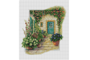 Counted Cross Stitch Pattern of a Home Graphic Cross Stitch Patterns By Crochet Patterns
