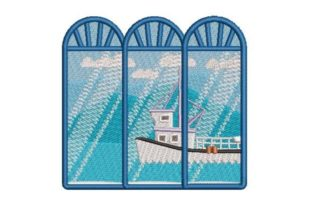 Fishing Village Cities & Villages Embroidery Design By Embroidery Designs