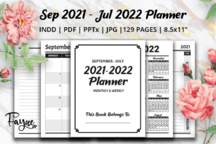 Print on Demand: Monthly & Weekly Planner with Dates Graphic KDP Interiors By Fayne