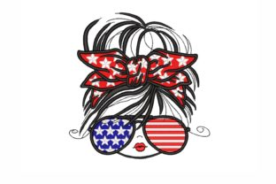 Patriotic Girl Independence Day Embroidery Design By NinoEmbroidery