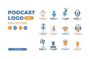 Podcast Logo Collection Graphic Logos By Role Graphic