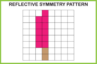 Print on Demand: Reflective Symmetry Worksheet -Ice Candy Graphic K By kidobolt
