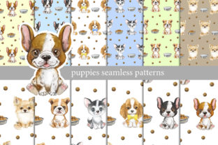 Seamless Patterns with Puppies, Dogs Graphic Add-ons By EvArtPrint