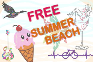 Print on Demand: The Free Embroidery Summer Bundle Bundle By Dizzy Embroidery Designs