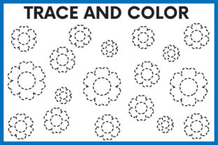 Print on Demand: Trace and Color Worksheet Flowers 02 Graphic PreK By kidobolt