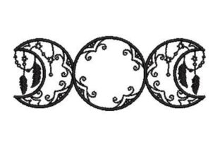 Triple Moon Nursery Embroidery Design By Embroidery Designs
